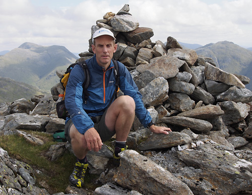 Me on the summit of Sgurr an Utha, my last Corbett